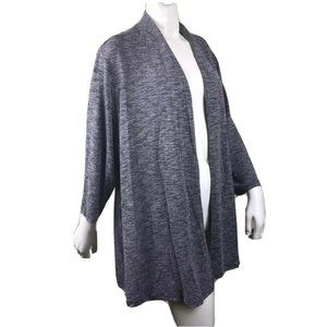 Charter Club Deep Black Combo knit Cardigan Sz 3X